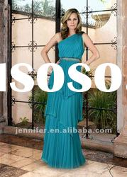 Best Selling one-shoulder mother of the bride dresses (ABB127)