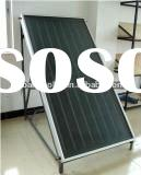 Black chrome flat panel solar thermal collector
