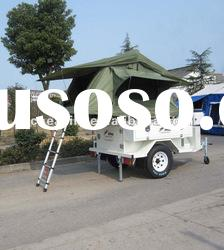 Camper trailer with folding tent