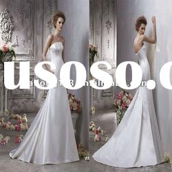 Charming Strapless Satin Fit and Flare Wedding Dress 2012