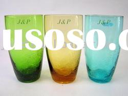 Colored glass water tumbler/glass hiball/glass tumbler/glassware