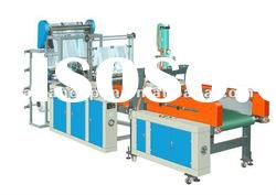 Computer Hot Cutting Double Line Automatic Punching Bag Making machine
