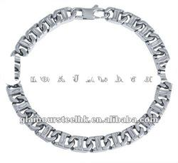 Contemporary chain and link Bracelet wholesale stainless steel fashion men's jewelry