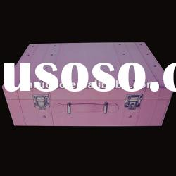 Cosmetic packaging box with hinged top