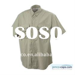 Cotton twill shirt with short sleeve, latest shirt for men