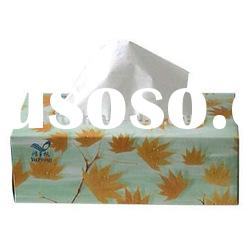 Decorated paper tissue box