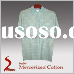 Double Mercerized Cotton Mens Polo Shirt 100%Cotton Polo