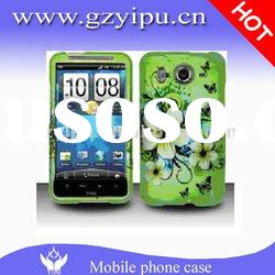 Double layer flower butterfly protective solid snap on cover Inspire 4G Desire HD Accessory for HTC