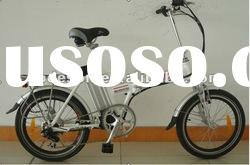 EN 15194 Lithium Foldable Electric Bicycle with Aluminum Frame, 25kph Maximum Speed