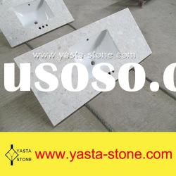 Engineered White Marble Bathroom Vanity Tops
