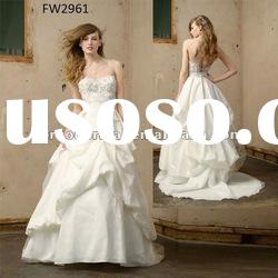 FW2961 Sweetheart Taffeta Wedding Dress With Open Back