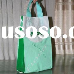 Factory direct price PE colorful side gusset promotional shopping plastic handle bag