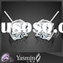 Fashion CZ Diamond 925 Silver Earrings