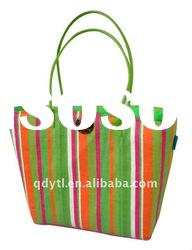 Fresh color summer wheat straw beach bag