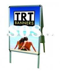 Front loading single/double side poster board stands display stand