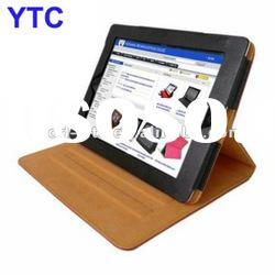 Genuine Leather Cover Case with 3 adjustable degree Stand For The New iPad 3 3rd 2012 Version