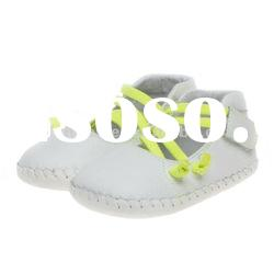 Genuine leather children shoes baby shoes BB-A21017-WH