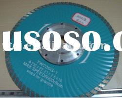Granite saw blade with flange