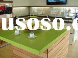Green solid surface kitchen top quartz stone