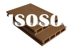HDPE hollow wood plastic composite outdoor wpc garden decking