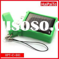 Haipaite 2012 Hot sale:Mini solar charger with 25mA solar panel and 410mA battery for iphone