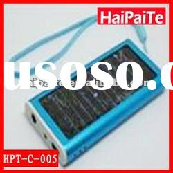 Haipaite 2012 high efficiency solar charger with 3.7V 800mAh battery and 0.165W olar panel