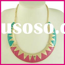 High End Vintage Colorful Necklace, Fashion Bib Necklace