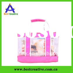 High quality pvc handbag bag for cosmetic/clothes packing