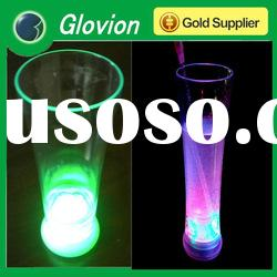 Hot sale led flashing cup decorated wine glass advertising shot glass cup