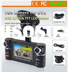 Hot selling ! Wide Angle 120 Degrees F20 Dual Camera Car Dvr Recorder