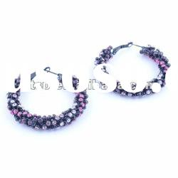 Huge crystal hoop earrings for women