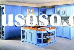 Light Blue Double Side Painting MDF Board Kitchen Cabinet SP-04