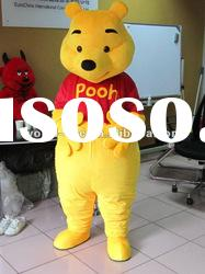 Lovely Winnie the Pooh Bear Cartoon Character Mascot