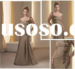 Mermaid Strapless Chiffon Floor-length Mother of the Bride Suits
