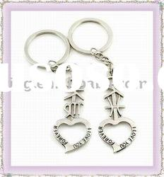 Metal key chains handmade zinc alloy keychains