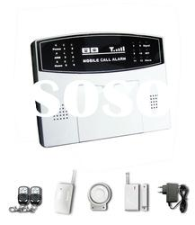 Mobile phone GSM Alarm System With 4 Wired and 12 Wireless Defense Zones (GS-007M2B)