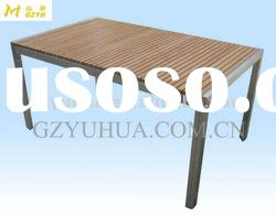 Modern style stainless steel wood furniture of outdoor tables