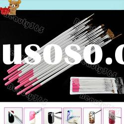 New 12pcs Functional Nail Art Design Painting Shading Drawing Pen Polish Brush Set