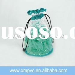 New design clear vinyl drawstring bag for sales XYL-G221