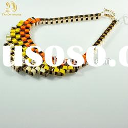 New fashion colorful jewelry alloy necklace