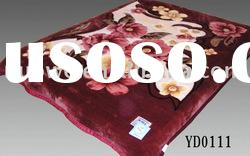 No.YD111 purplish red blankets polyester