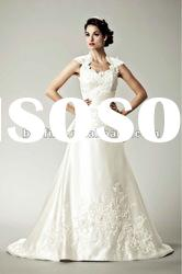 No.grace lace bridal dress queen-ann embriodery sleeves wedding dress