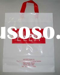 PE colorful side gusset promotional shopping plastic bag