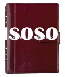 PU leather cover notebook for organizer