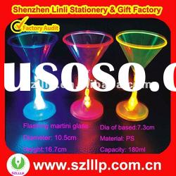 Plastic led light up martini glasses