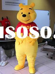 Popular winnie the pooh bear cartoon mascot costume
