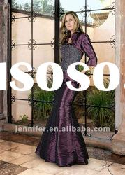 Purple Empire Beaded Mother of the Bride Dresses 2012 (ABB120)