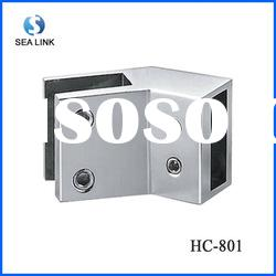 Rail connector for shower glass door accessories which suitable for square tube