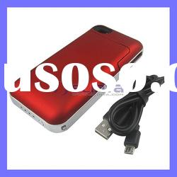 Red 1500mAh Juice Pack Case Plus Battery Case for iPhone 4/4S