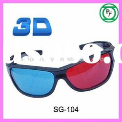 Red and Blue 3D video glasses 3D active glasses
